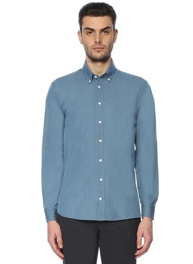 Beymen Collection Uzun Kollu Gömlek Mavi